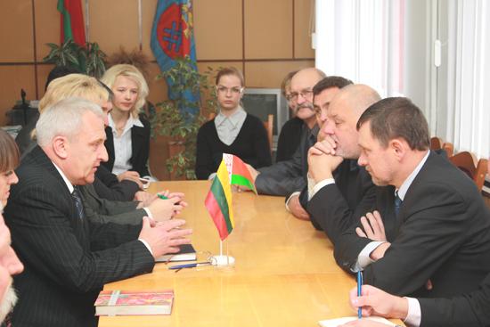 Візіт літоўскіх парламентарыяў