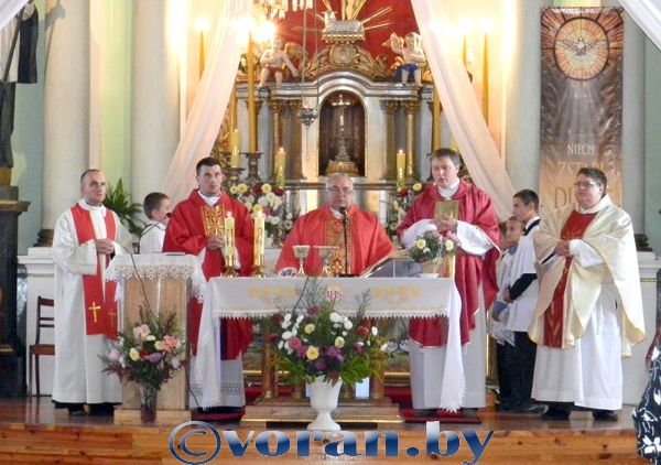 14 верасня Касцёл адзначыў свята  Узвышэння Святога Крыжа
