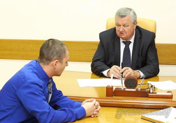 Первый заместитель председателя облисполкома Иван ЖУК провел прием граждан