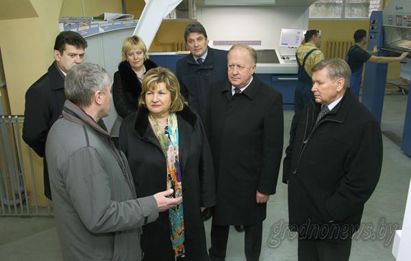 Министр информации Республики Беларусь Лилия Ананич посетила в Гродно три профильных предприятия