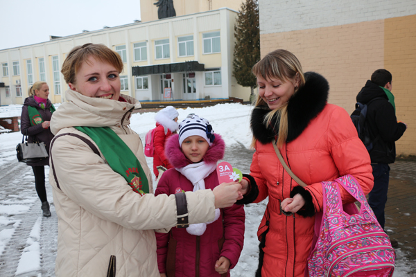 Акция «За любимую Беларусь!» в Вороново