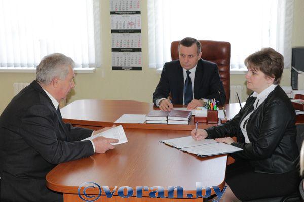 В Вороново прием граждан провел председатель Гродненского областного суда