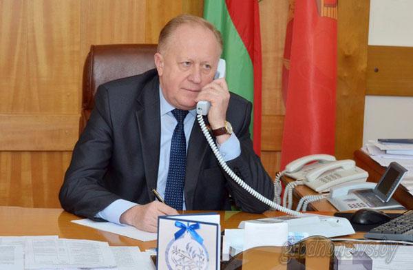 В субботу, 2 июля, прямую линию с жителями Гродненщины проведет заместитель председателя облисполкома Виктор Лискович