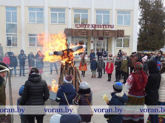 В Вороново проводили зиму (фото)