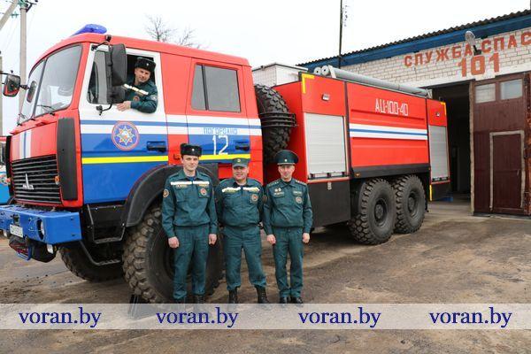 Новая современная автоцистерна прибыла на пожарный аварийно-спасательный пост в аг. Погородно