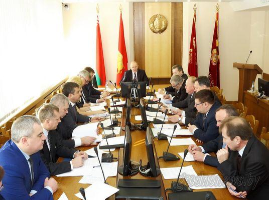В Гродно прошло совместное заседание областного исполнительного комитета и президиума областного Совета депутатов