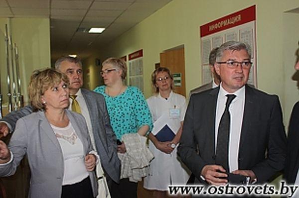 Островец посетил министр здравоохранения Валерий Малашко