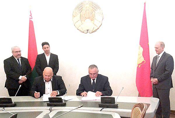 2 августа губернатор Гродненщины Владимир Кравцов подписал договор с ООО «Ор Меир» на реализацию инвестиционного проекта на строительство гостиничного комплекса в г.п. Радунь.