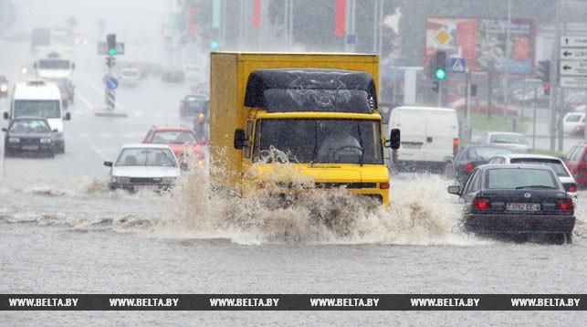 Циклон «Томас» с дождем и сильным ветром пришел в Беларусь