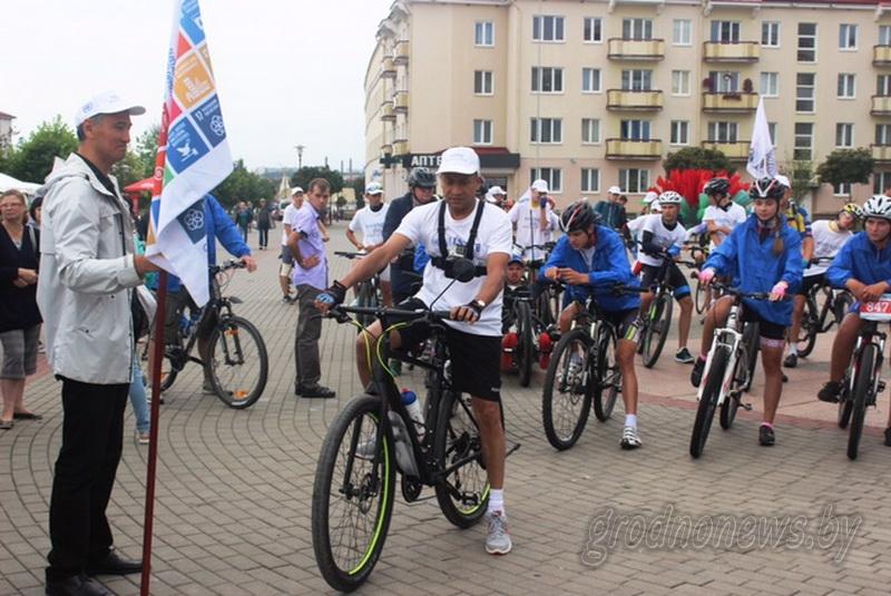 Велопробег «Мысль имеет значение» из Гродно в Минск финишировал вчера в Лошицком парке