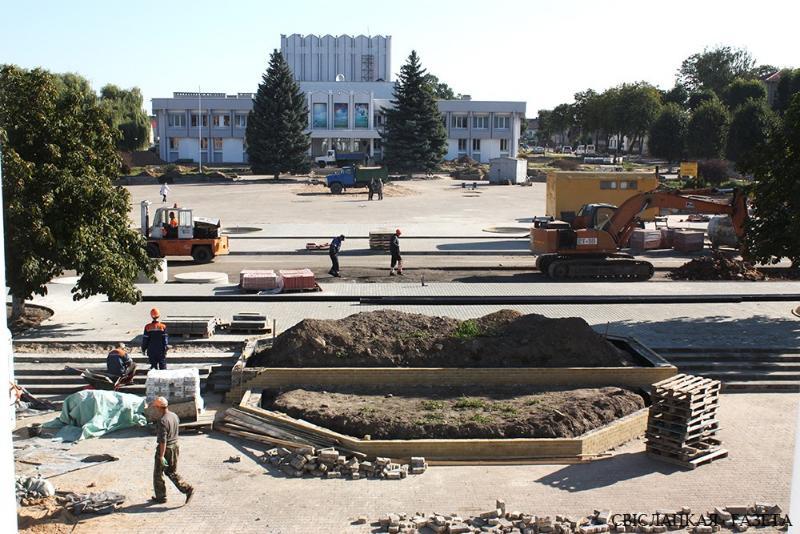 Большая стройка в Свислочи: райцентр готовится к обласным «Дажынкам»