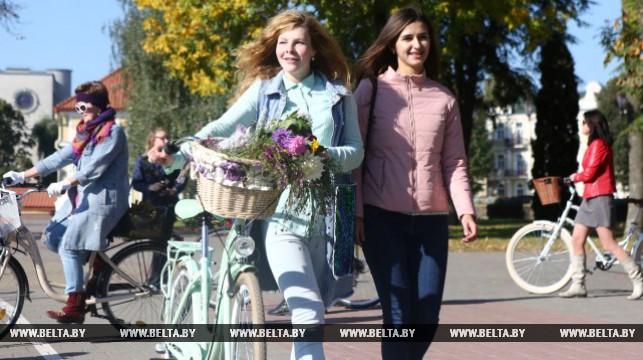 Фоторепортаж: Спортивная прогулка «Леди на велосипеде» впервые прошла в Гродно