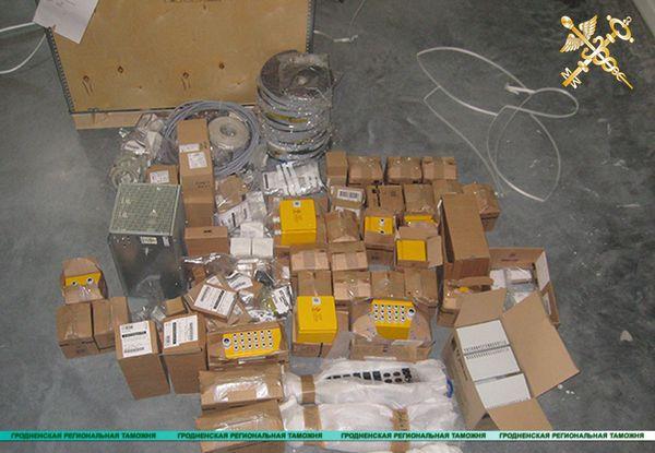 Гродненские таможенники изъяли контрабандную партию оборудования стоимостью свыше 1,2 миллиона рублей