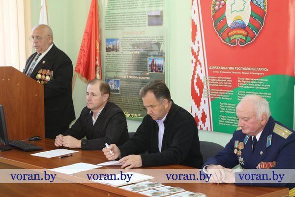 Вороновская районная организация ОО «Белорусский союз офицеров» избрала председателя и пополнила ряды