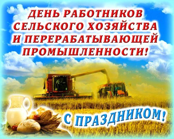 Поздравления с Днем работников сельского хозяйства и перерабатывающей промышленности агропромышленного комплекса