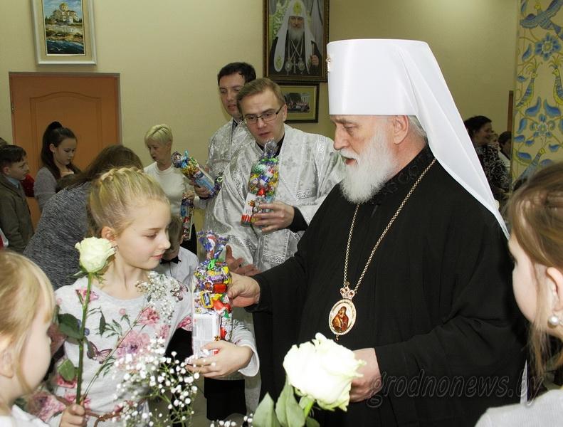 Митрополит Павел поздравил в Гродно с Рождеством детей с ограниченными возможностями (+Видео)