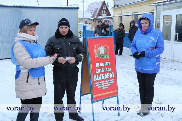 Активисты вышли на рынок в г.п. Вороново