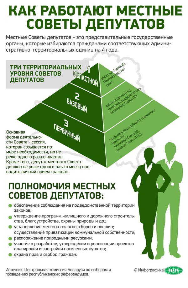 Инфографика: Как работают местные Советы депутатов