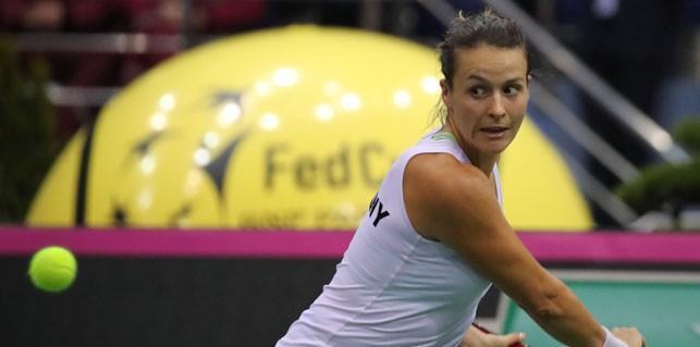 Немецкие теннисистки вышли вперед в матче Кубка Федерации с командой Беларуси