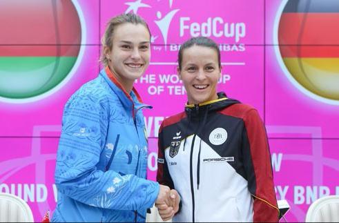Арина Соболенко и Татьяна Мария открыли матч Кубка Федерации Беларусь-Германия