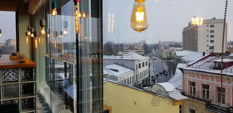 Город как на ладони. В Гродно открылось панорамное кафе с прекрасными видами на исторический центр