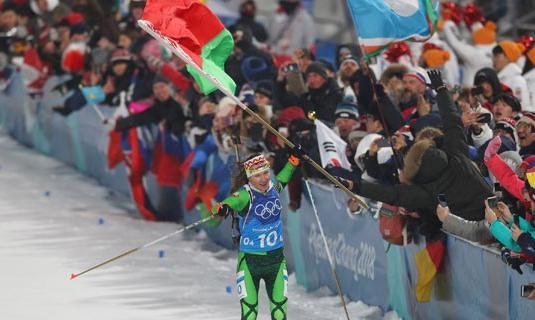 Дарья Домрачева понесет флаг Беларуси на церемонии закрытия Олимпиады в Пхенчхане