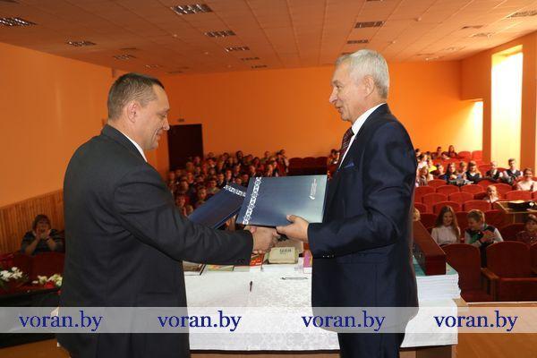 подписание договора о создании центра изучения китайского языка, Вороновская СШ.