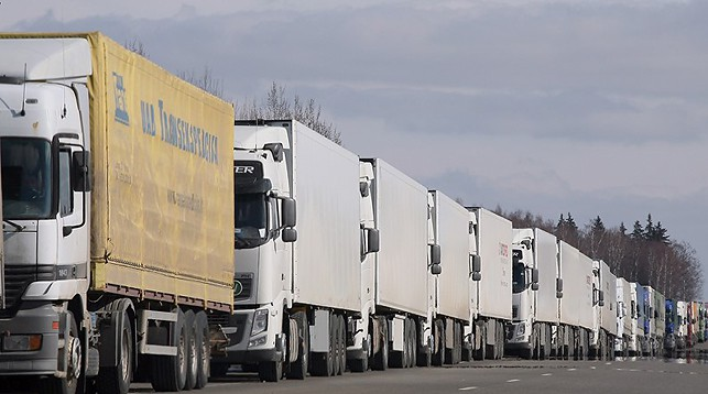 Более 1,8 тыс. фур ожидают въезда в Латвию и Литву из Беларуси