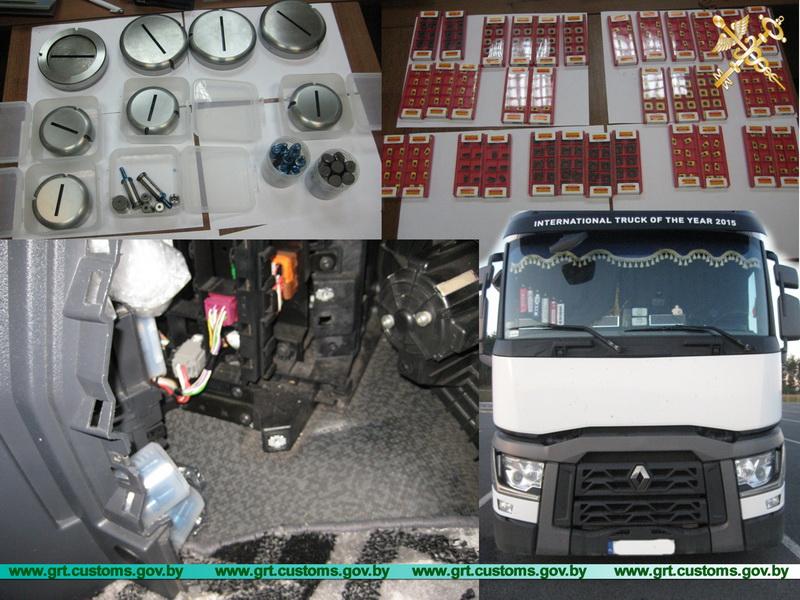 Гродненские таможенники обнаружили тайник с сотней запчастей в кабине грузового авто (+Видео)