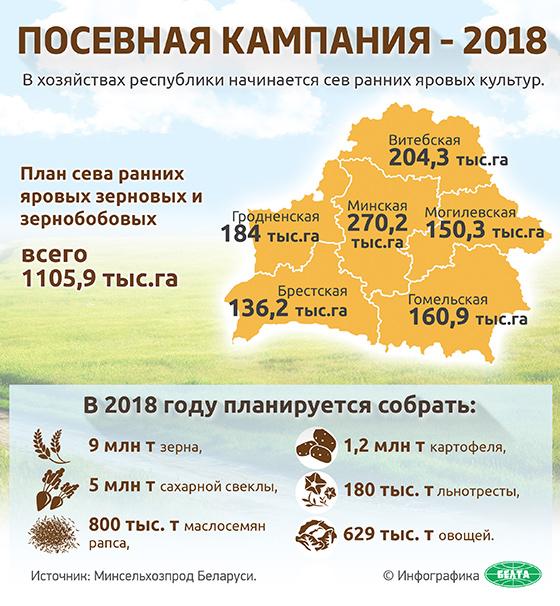 Инфографика: Посевная кампания — 2018