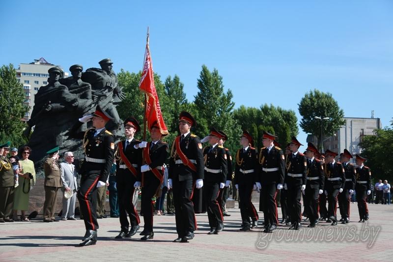 В Гродно у мемориала воинам-пограничникам прошел торжественный митинг, посвященный 100-летию пограничной службы Беларуси