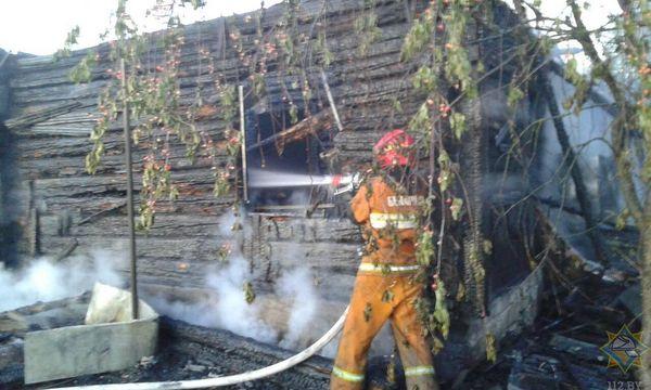В Вороновском районе при пожаре погиб мужчина
