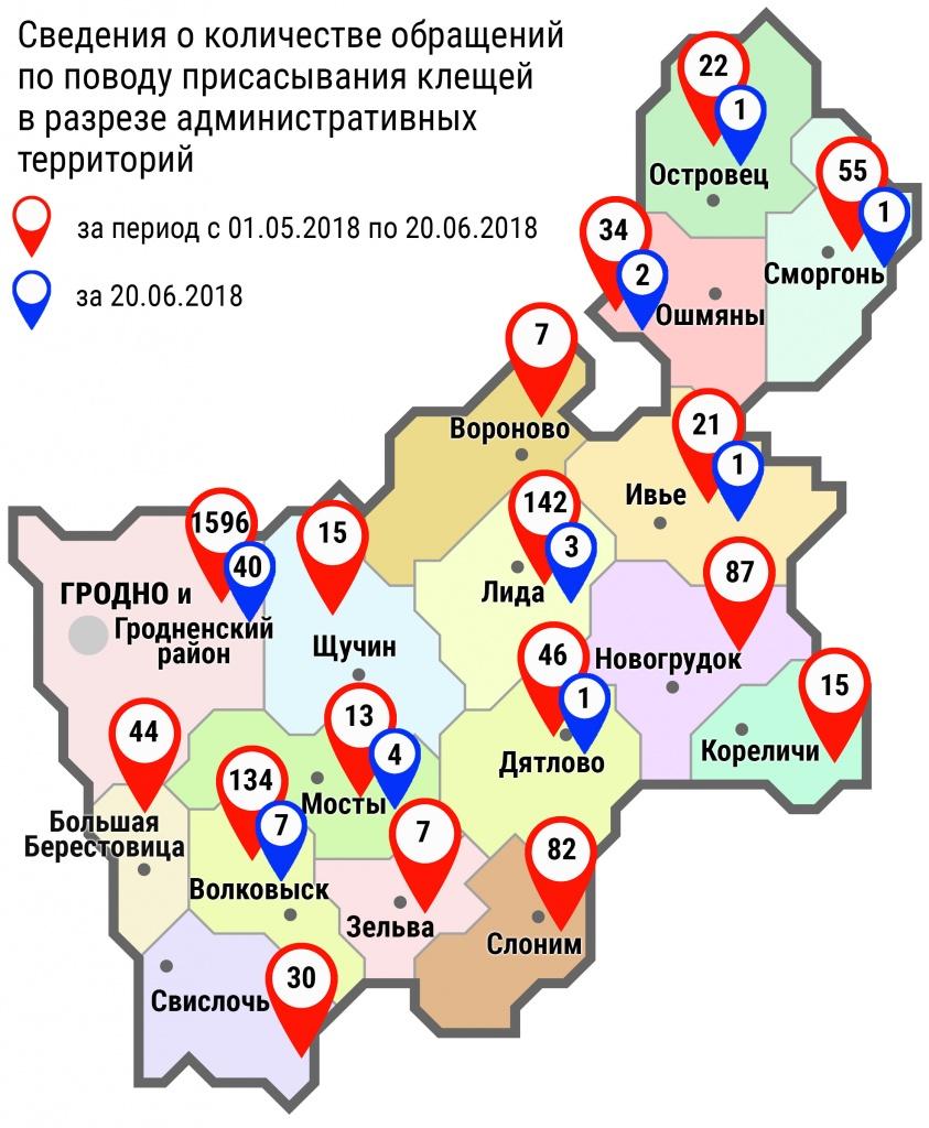 С начала мая в области по поводу укусов клещей обратились 2350 человек, в том числе вчера, 20 июня, – 60 человек