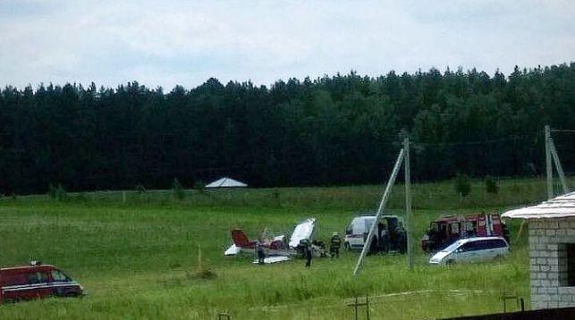 В пригороде Гродно упал самолет