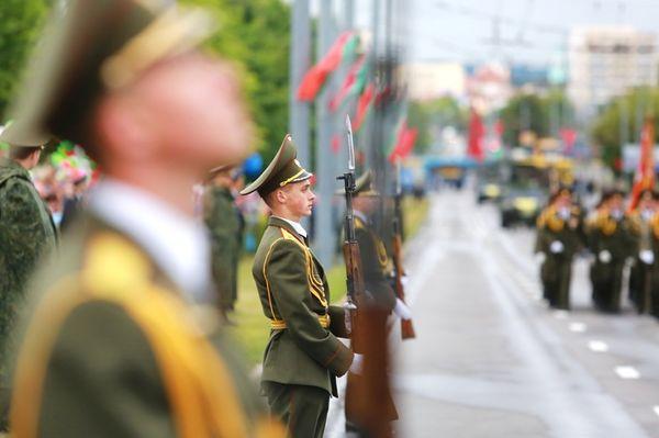 Фоторепортаж. Парад войск гродненского гарнизона