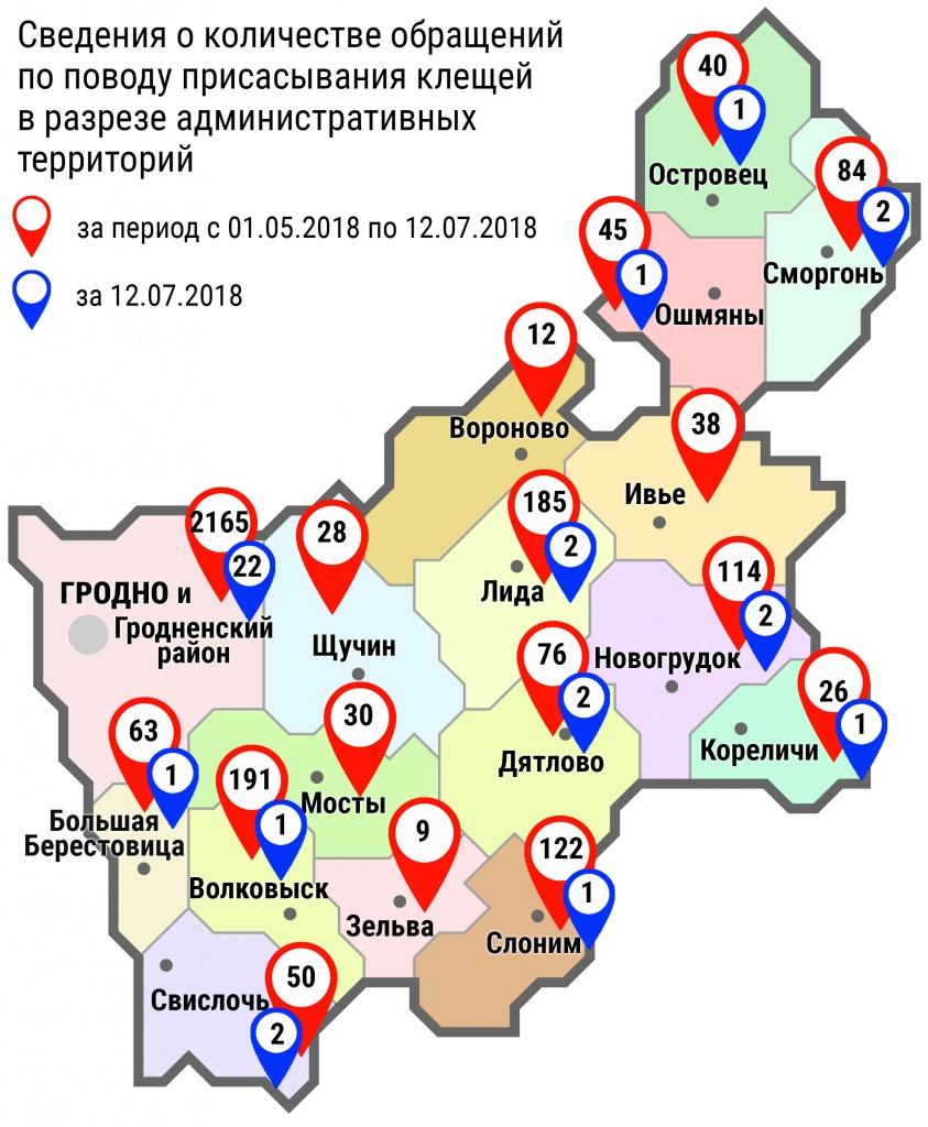 С начала мая в области по поводу укусов клещей обратились 3278 человек, в том числе вчера, 12 июля, – 38 человек