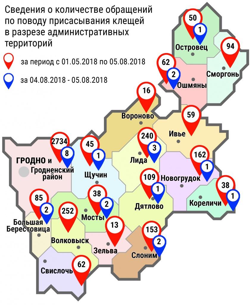 С начала мая в области по поводу укусов клещей обратились 4212 человек, в том числе за минувшие субботу и воскресенье – 24 человека
