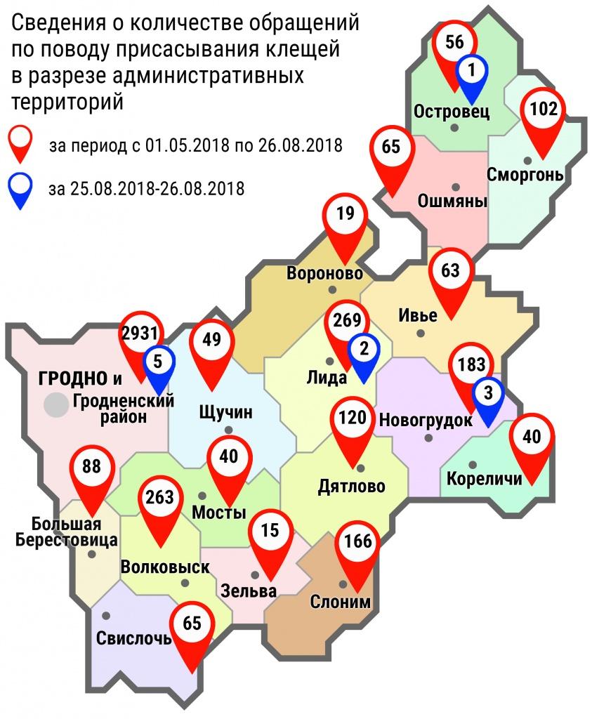 С начала мая в области по поводу укусов клещей обратились 4534 человека, в том числе за минувшие субботу и воскресенье, – 11 человек