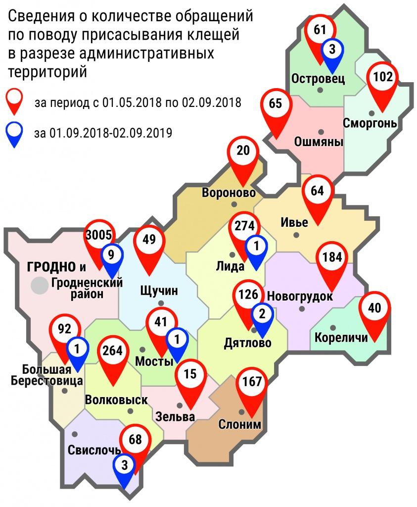 С начала мая в области по поводу укусов клещей обратились 4637 человека, в том числе за минувшие субботу и воскресенье, – 20 человек