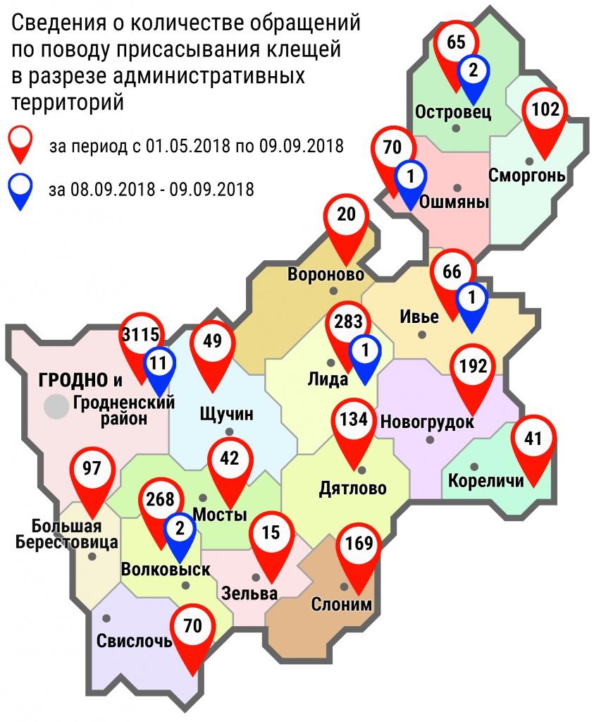 С начала мая в области по поводу укусов клещей обратились 4798 человек, в том числе за минувшие субботу и воскресенье, – 18 человек