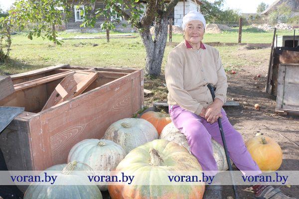Жительница Радуни Гелена Феликсовна Андюлевич  вырастила тыквы весом более ста килограммов