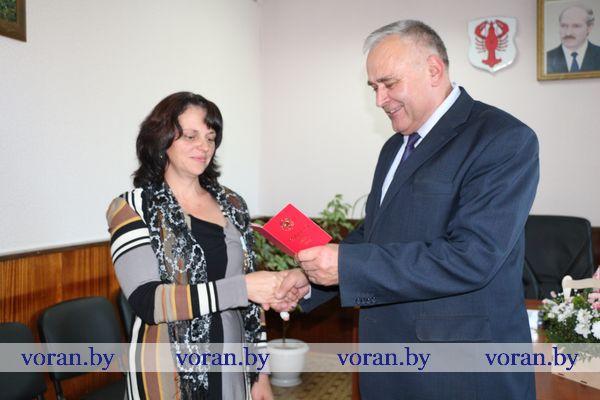 Орден Матери вручен Анжеле Свечко из Новой Казаковщины