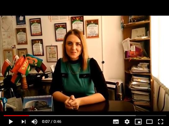 Лидер молодежного движения Вороновщины Наталья Метелица поделилась своими впечатлениями от встречи с Президентом (Видео)