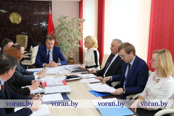 Министр экономики посетил с рабочим визитом Вороновский район