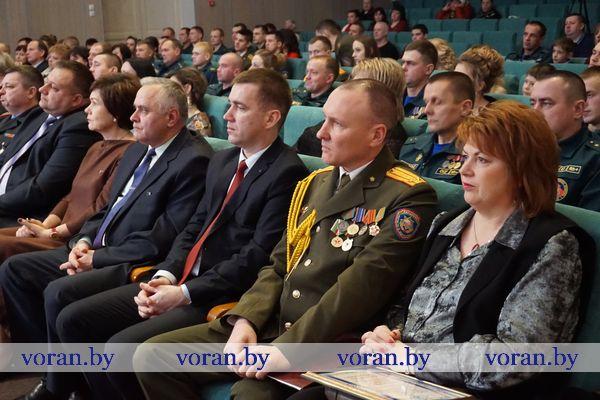 Вороновские спасатели принимали поздравления