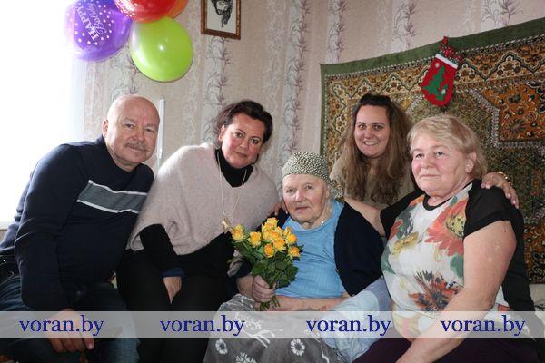 Янина Яковлевна Прокопович из Вороново отметила столетие