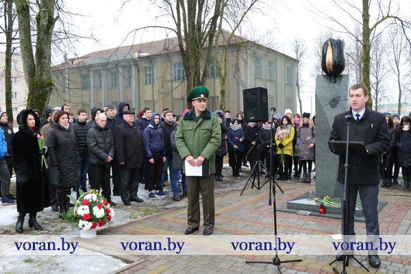 Время выбрало их. Торжественные мероприятия, посвященные Дню памяти воинов-интернационалистов, прошли в Вороново (Фото, Видео)