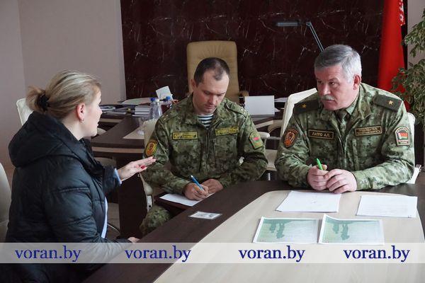 Председатель Государственного пограничного комитета Беларуси Анатолий Лаппо провел прием граждан в Вороново