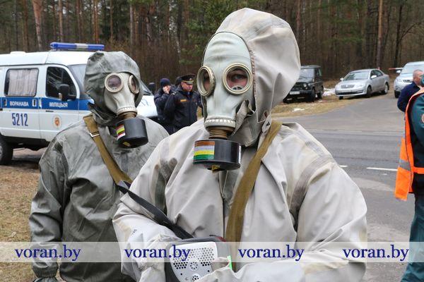 Горит лес. Надвигается радиоактивное облако. День второй комплексного учения в Вороновском районе (Дополнено)