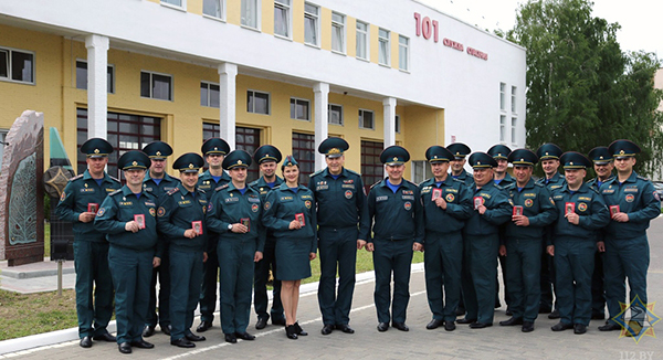 Спасатели Вороновщины награждены медалями
